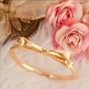 Rose Gold Kate Spade Love Notes Take a Bow Bangle